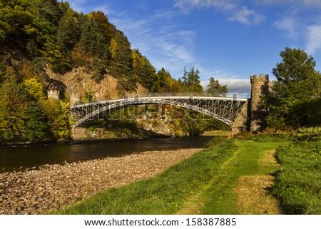 Craigellachie, the Thomas Telford Bridge - stock photo