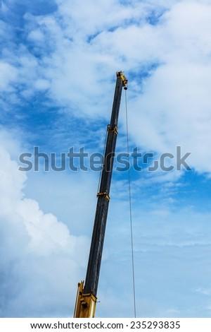 crain construction building - stock photo