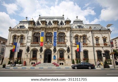 Craiova, Romania, June 2, 2014 - City Hall of Craiova, Romania's 6th largest city.