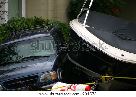 Cramped Parking Spaces - stock photo