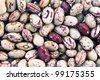 Cranberry beans as background - stock photo