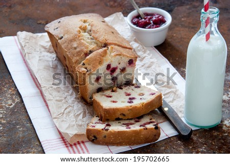 Cranberry cake - stock photo