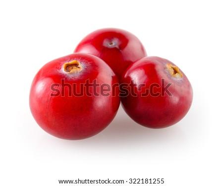 Cranberry isolated on white background - stock photo