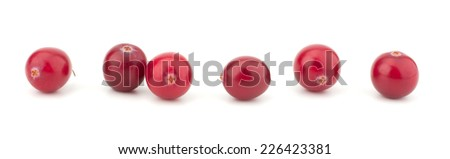 Cranberry isolated on white background closeup - stock photo