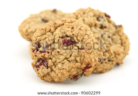 Cranberry oatmeal cookies - stock photo