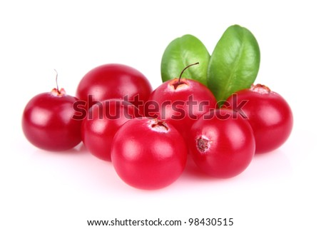 Cranberry with leaves
