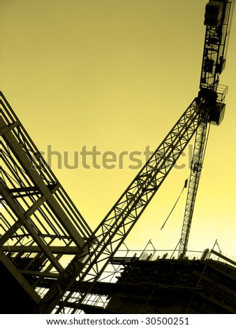 Crane and construction