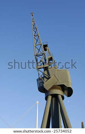 Crane at Royal Victoria dock in London, England
