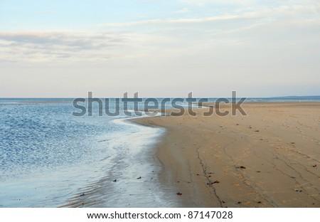 Crane Beach scenery (Massachusetts, USA) at evening time - stock photo