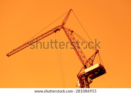 Crane for construction - stock photo