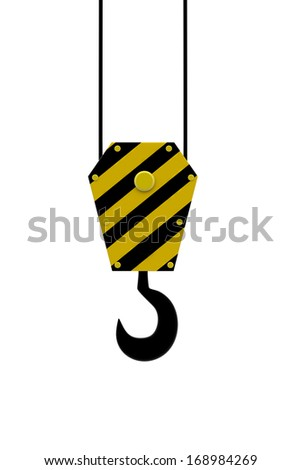 Crane hook. - stock photo