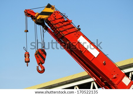 Crane hook - stock photo