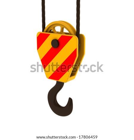crane hook - stock photo