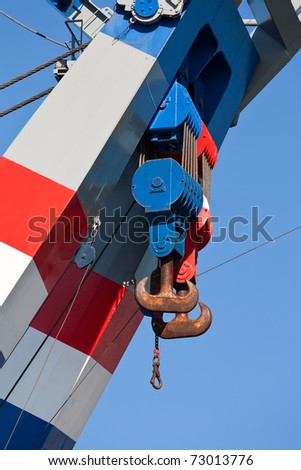 Crane Hook from a Floating Crane