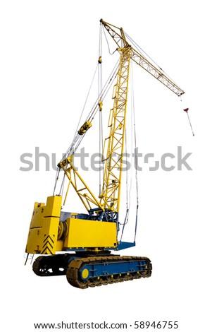 crane isolated on the white background - stock photo