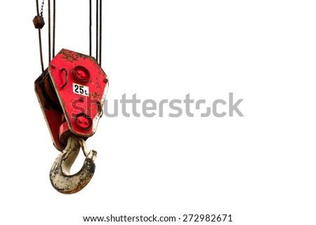Crane on white background - stock photo