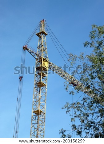 crane tower at dry day
