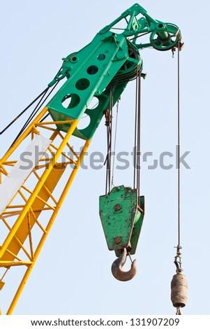 Crane With Blue Sky - stock photo