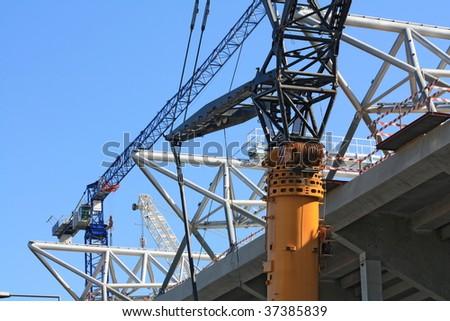 Cranes - stock photo
