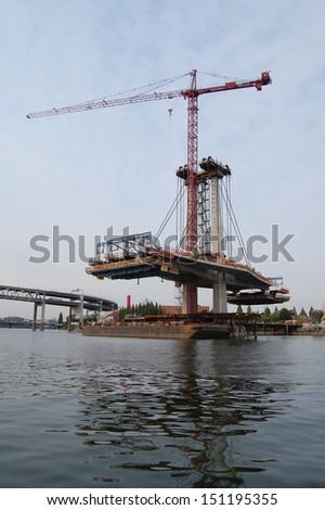 Cranes (Construction) - stock photo