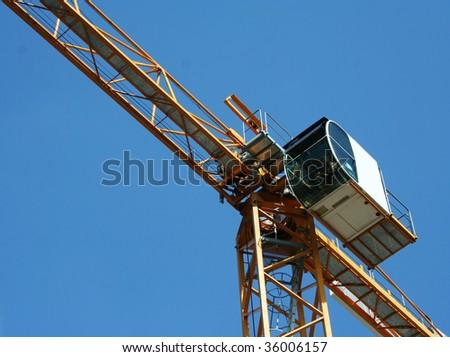 cranes on a construction - stock photo