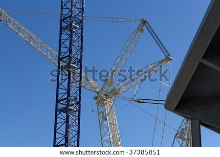 Cranes on structure