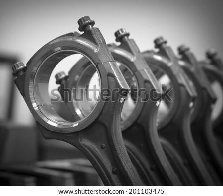 Crank the engine - stock photo
