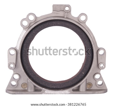 Crankshaft oil seal engine isolated on white background - stock photo