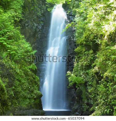 Cranny Falls, County Antrim, Northern Ireland - stock photo