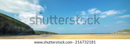 Crantock Bay, Cornwall, England - stock photo