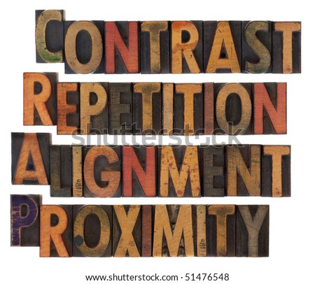 crap contrast repetition alignment proximity four stock photo 51476548 shutterstock