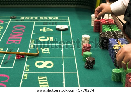 Craps (casino) - stock photo
