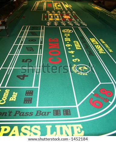 Craps Table in Casino - stock photo