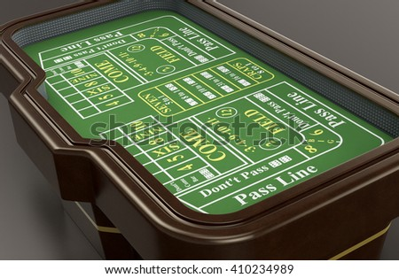 craps table on dark background (3d render) - stock photo