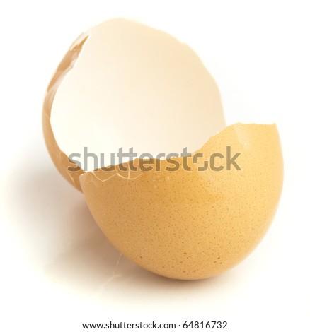 crash egg isolated on a white background - stock photo