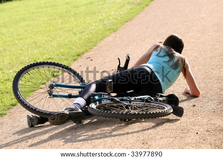 crash from a bike - stock photo