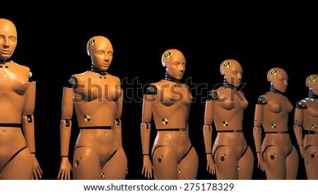 crash test dummies - stock photo