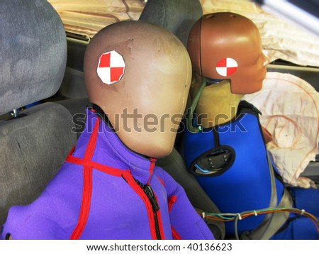 Crash test dummies - stock photo