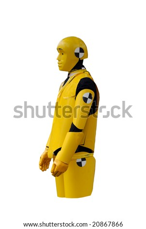 Crash test dummy - stock photo