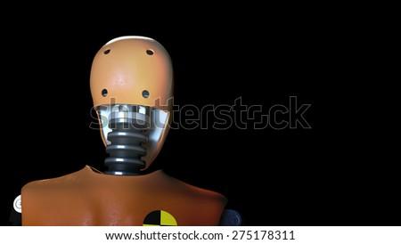 crash test dummy - stock photo