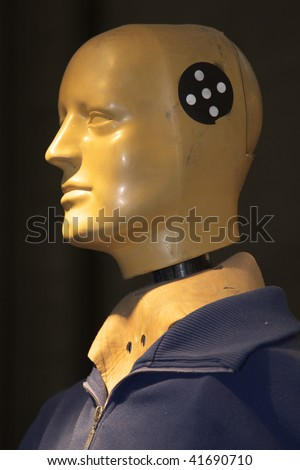 Crash Test Dummy for testing vehicle - stock photo