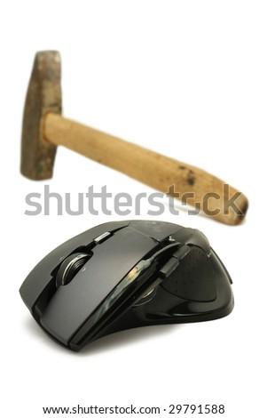 Crashed mouse - stock photo