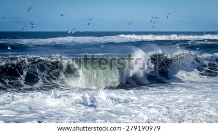 Crashing Wave - stock photo