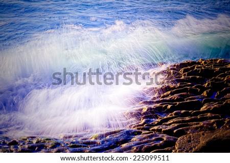 Crashing Waves Abstract - stock photo