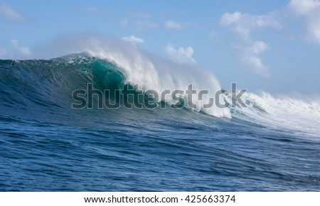 Crashing waves on open ocean big stock photo royalty free crashing waves on the open ocean as a big swell hits the famous surf spots along publicscrutiny Images