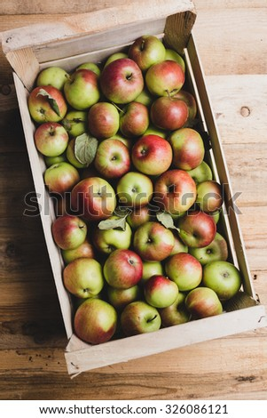 Crate full of apples - stock photo