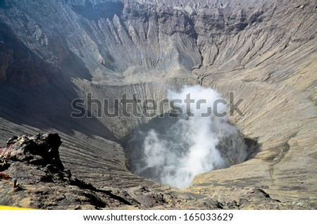Crater of Bromo vocalno, East Java, Indonesia - stock photo