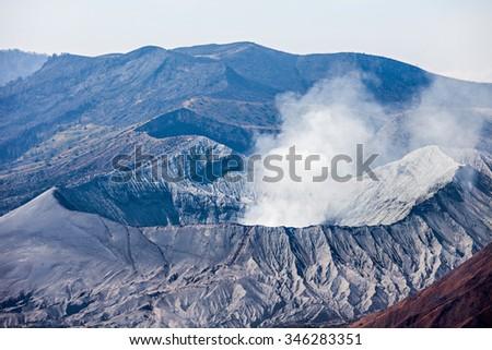 Crater of Bromo volcano, Java island, Indonesia - stock photo