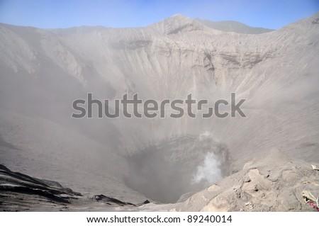 Crater of volcano Bromo - stock photo