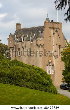 Crathes Castle Scotland in Early Autum